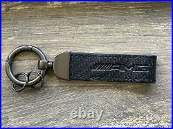 New Mercedes-benz Amg Logo Carbon Black Keychain/keyring/ C/e/ml/sl/s/cl/gl