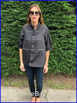 New Moncler Genius Silver Noir Kei Ninomiya Chain Leather Jacket XL 6