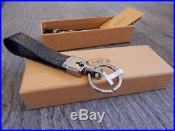 New Tod's Valet Parking Classic leather Keychain, Keyring Key Fob, Black LAST 1