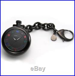 New-marc Jacobs Black Aluminum Key Chain+multi-color Logo Dial Watch-mbm7501