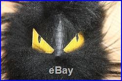 Nib Hard To Find Super Cute Fendi Bag Bug Yellow Eyes Fox Fur