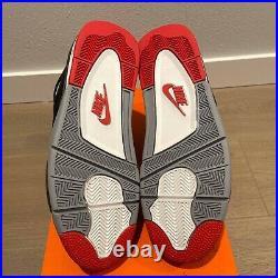 Nike Air Jordan 4 Retro OG Bred Black Red 308497-060 Men's 12.5 B-grade