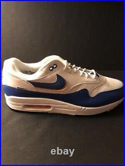 Nike Air Max 1 Windbreaker White/Game Royal Mens Size 12 New No Box AO1021-102