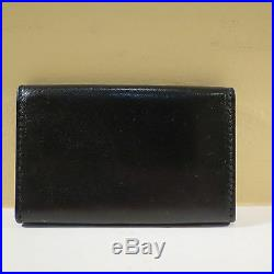 Nwt Authentic Prada Black Nappa Leather Key Ring Holder Key Chain Wallet