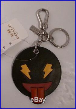 Nwt Coach 4 Emoji Googly Frisky Shady Cheeky Bag Charm Key Chain Ring Fob