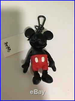 Nwt Disney X Coach Mickey Mouse Limited Edition Key Fob Leather Bag Charm 66511
