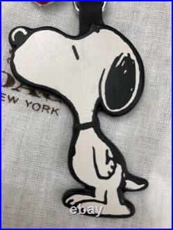 Nwt New Coach X Snoopy Peanuts Leather Keychain & Heart Kiss Fob