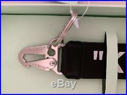Off White Key Chain Virgil Abloh BNIB Black Leather