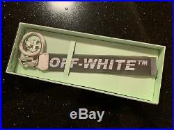 Off White White & Grey Rubber Keychain