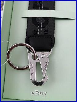 Off white industrial keychain