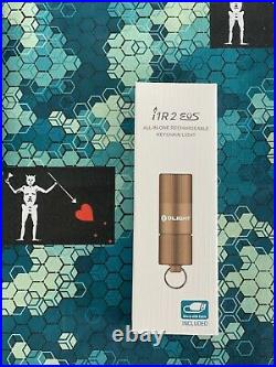 Olight ION 10th year anniversary keychain torch in Ti Titanium Bead Blasted + i1