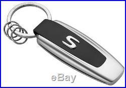 Original Mercedes-Benz Key Chain Typo S-Class silver / black stainless steel