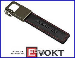 Original Mercedes-Benz keyring, traffic red AMG, black / red / gray