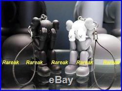 OriginalFake Kaws Passing Through Orignal Fake Mini Figure Black 2.5 Key Chain