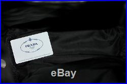 PRADA $1600 Nylon PATCHES LOGO BACKPACK Saffiano +Varsity Letter KEY CHAIN