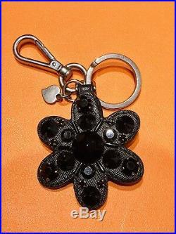 PRADA Crystal Flower Key Chain