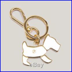 PRADA Puppy Pendant Black KeyRing METAL KeyHolder 1PS402 QVW F0002 Authentic
