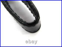 PRADA key chain 1PP726 key chain charm black leather SS beauty appraisal 1031