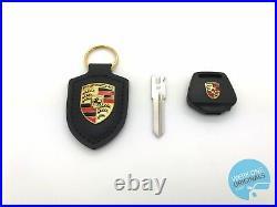 Porsche 944 Key Head Body New LED Type & Key Blank with Black Key-fob