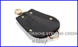 Porsche Reutter Key Pouch Leather Classic Part Key Chain Keyring Key Fob Black
