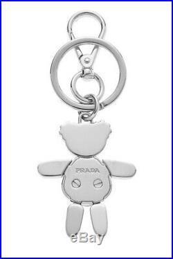 Prada Black & Silver Panda Keychain