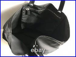 Prada Knife Keychain Black Nylon Tote Bag