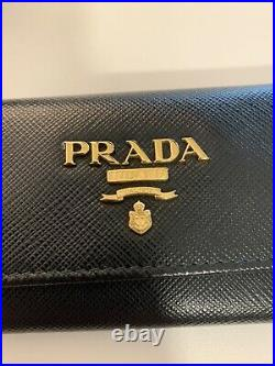 Prada Leather 6 Key Case Holder Nero Black, Pre-Owned with Tags