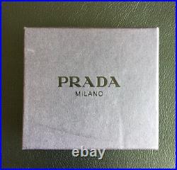 Prada Milano Authentic 100% Metal Unisex Key Ring Brand New With Box
