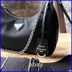 Prada Re-edition 2005 Black Nylon Tessuto Shoulder Bag