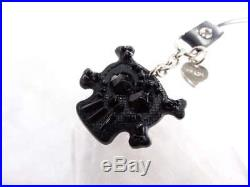 Prada Strap Key Ring Strap Charm Skull Black Authentic Rare FS Gift