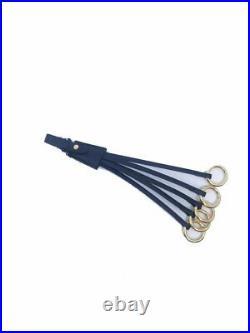 Prada Trick in Pelle Saffiano Rings Nero Leather Key Chain Strap 1TL117
