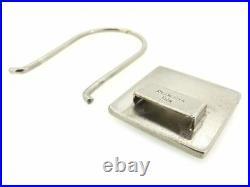 Prada key ring Key holder Black Black Woman unisex Authentic Used T7260