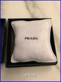 Prada metal keychain New, never used