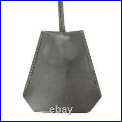 Pre-owned Authentic Hermes Bag Charm Key Chain Margiela Clochette Necklace Black