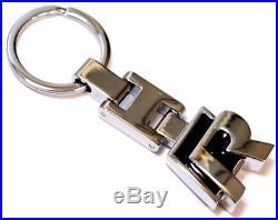 R Line Black Keyring Badge Metal Keychain R32 Rline Vw Small Chrome