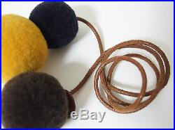 Rare Color! HERMES Wool Pom Poms Bag Charm in Excellent condition Auth