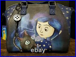 Rare LOUNGEFLY Coraline Stars Tote Purse Bag with Crossbody Strap + Keychain NWT
