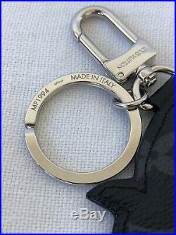 Rare Louis Vuitton Pig Zodiac Bag Charm Key Ring Holder Monogram Eclipse LV