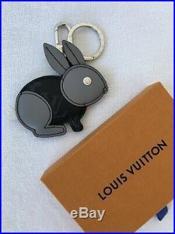 Rare Louis Vuitton Rabbit Zodiac Bag Charm Key Ring Holder Monogram Eclipse LV