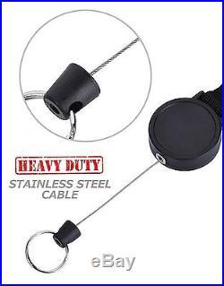 Retractable Key Tool Reel Holder Steel Clip Chain Belt Heavy Duty Split Ring 48