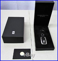Rolls-royce Genuine Black Leather Key Ring Oem # 80-54-0-442-845