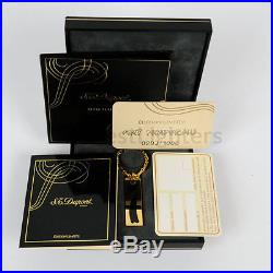 S. T. Dupont Art Nouveau Black Key Chain New In Box