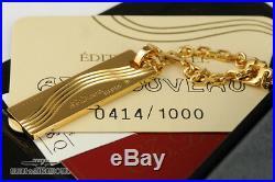 S. T. Dupont Le Art Nouveau Gold & Black Key Chain Vintage Rare