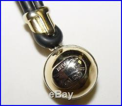 SAURO keychain 18K gold and black rubber 14.8g