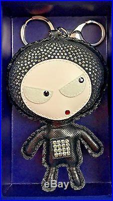 SWAROVSKI Genuine Eliot Black Bag Charm Key Ring Keychain Holder 11130805 Box