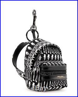 Saint Laurent Bag Charm Keychain Black New