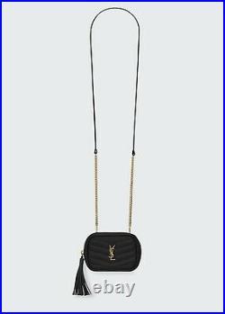 Saint Laurent Monogram YSL Grain de Poudre Key Pouch on Chain 725$