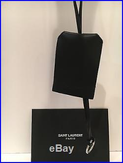 Saint Laurent YSL large Leather Logo Keychain Strap & Ring