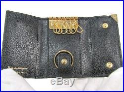 Salvatore Ferragamo Unisex Leather Key Case Black 22-6076 BF309293
