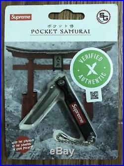 Supreme Pocket Samurai Red & Black StatGear Box Logo Knife Keychain Sold Out